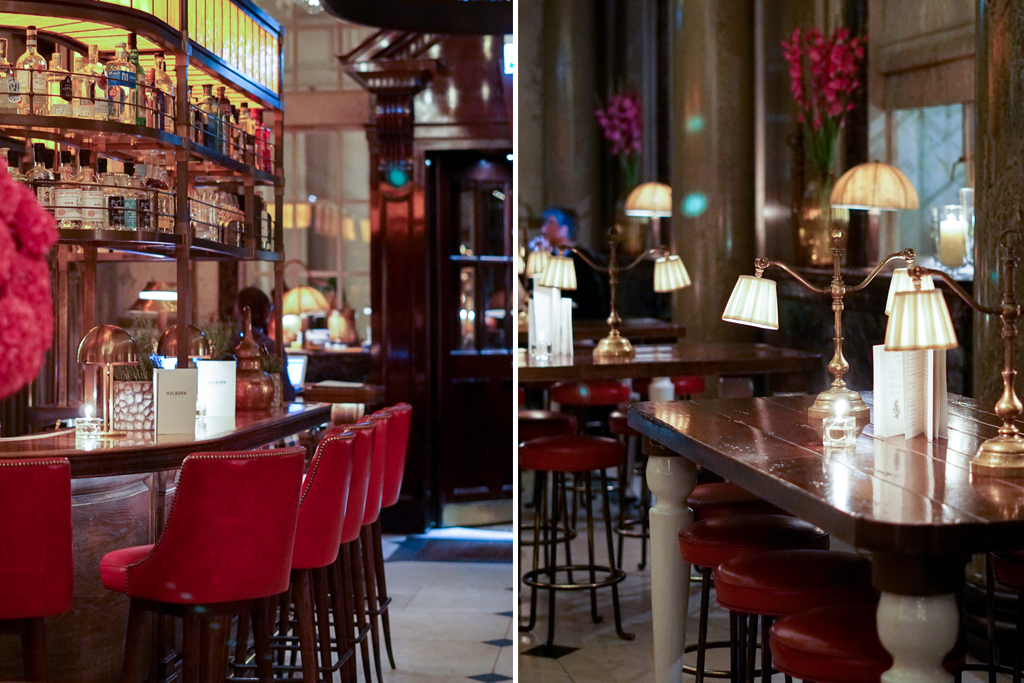 The Interior Decor Is Luxe Yet Casual Chic With Beautifully Carved Oak Chairs And Booths Tufted Red Leather Antique Mirrors Copper Topped Bars